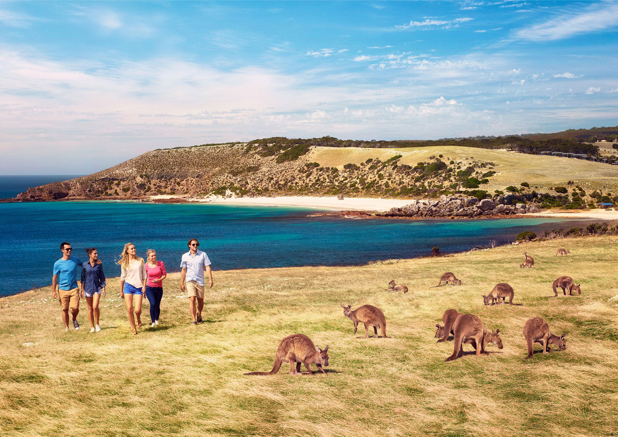 People walking on Kangaroo Island