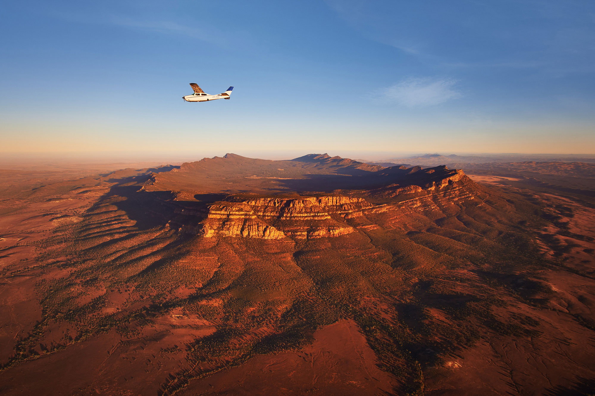 Flying over Wilpena Pound South Australia