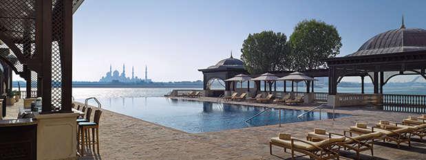 The pool at Shangri-la Qaryat Alberi in Abu Dhabi