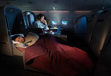 Qantas Business Class cabin