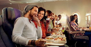 Dining in Emirates Economy