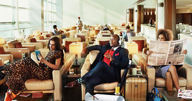 Inside the Emirates Airline Lounge