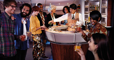Emirates Skywards onboard bar