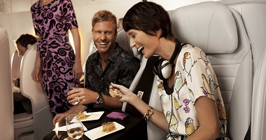Dining in Air New Zealand Premium Economy
