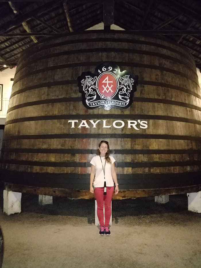 Angela on the Taylor's port tour