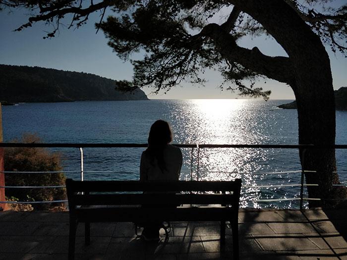 Angela by the sea in Mallorca