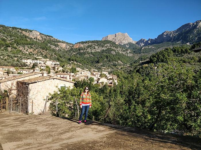 Angela in the Mallorca mountains