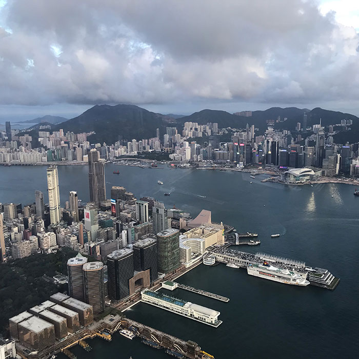 View from Aqua Hong Kong Lizzie Lacey-Brennan