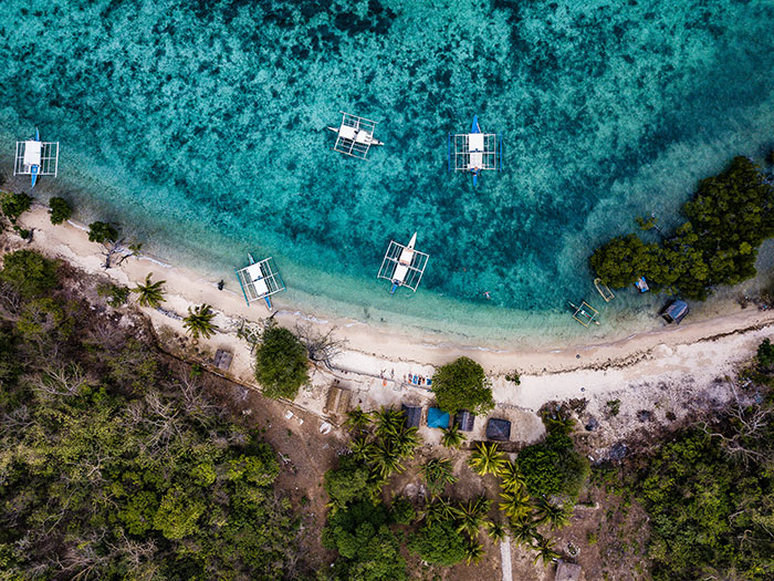 Philippines beach from above Richard Collett