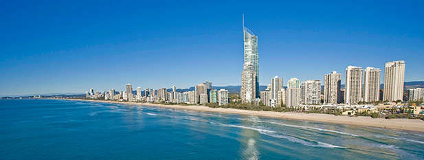 High rise buildings at Surfers Paradise on the Gold Coast