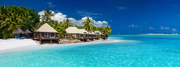 Beach villas in Fiji