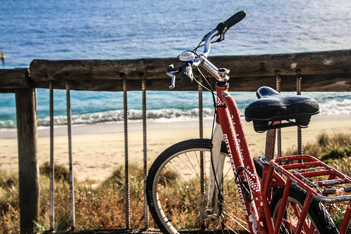 Bike on the beach, Rottnest Island, Richard Collett