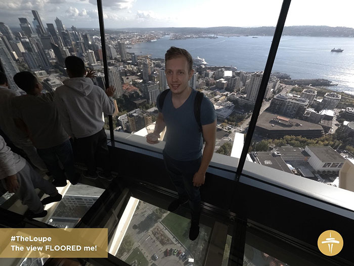 Ben at the top of the Space Needle