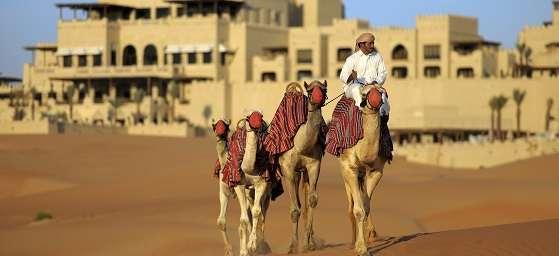 Camel trekking at Qasr Al Sarab in Abu Dhabi