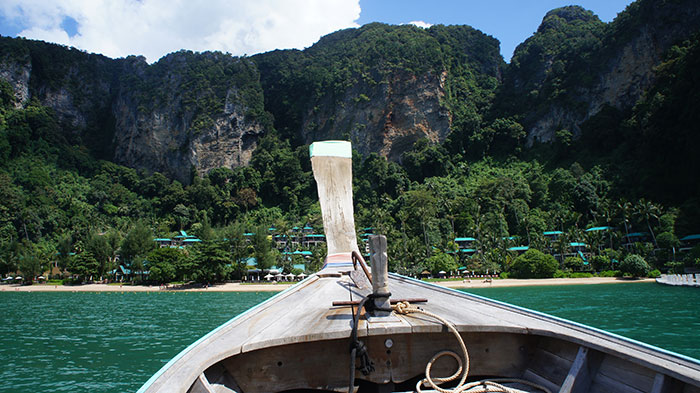 The boat to Centara Grand Krabi
