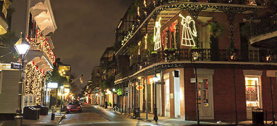 Christmas Lights in the French Quarter of New Orleans