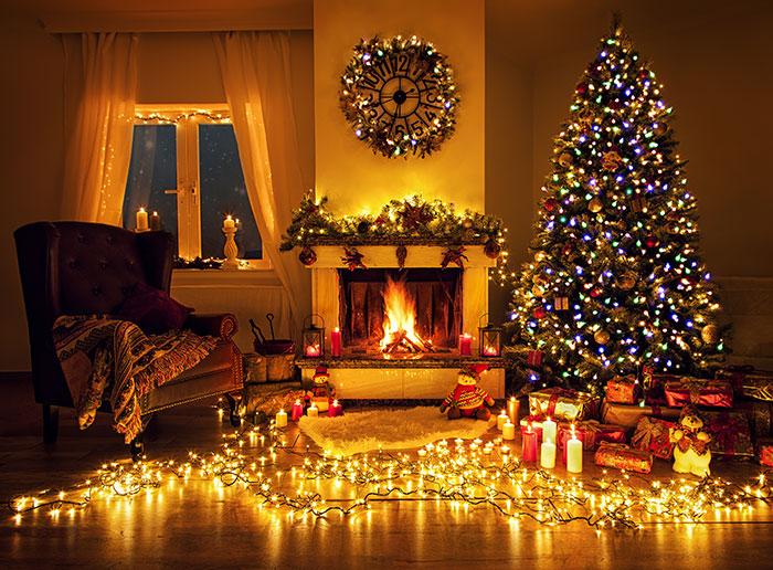 Cosy Christmas scene