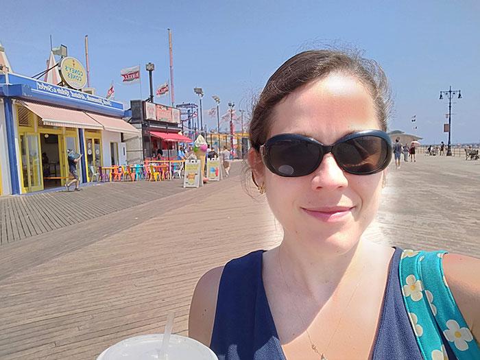Angela at Coney Island
