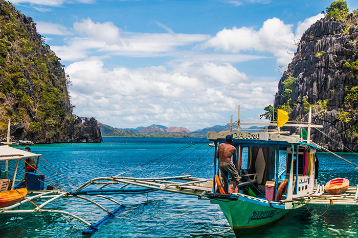 Coron Bay boats Philippines Richard Collett