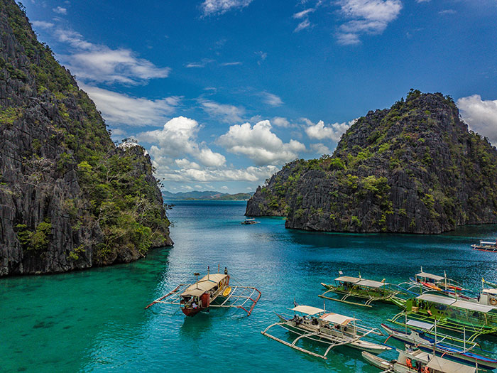 Coron Bay from Kayangan Lake Philippines Richard Collett