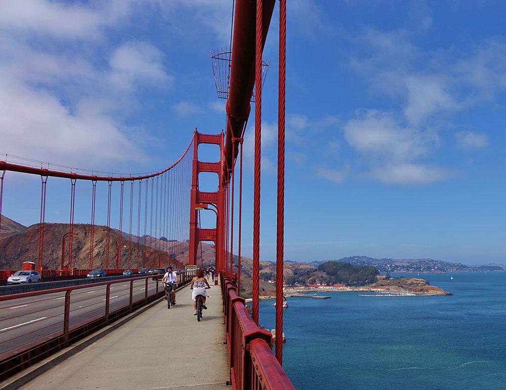 Cycling Golden Gate Bridge