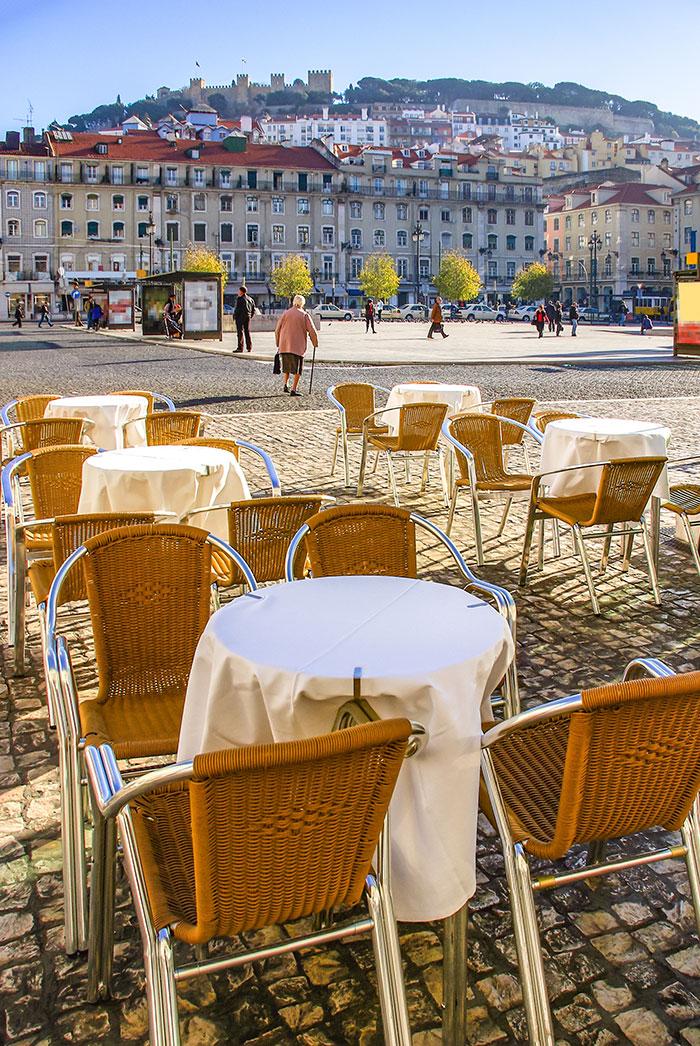 Figuera Square restaurant, Lisbon