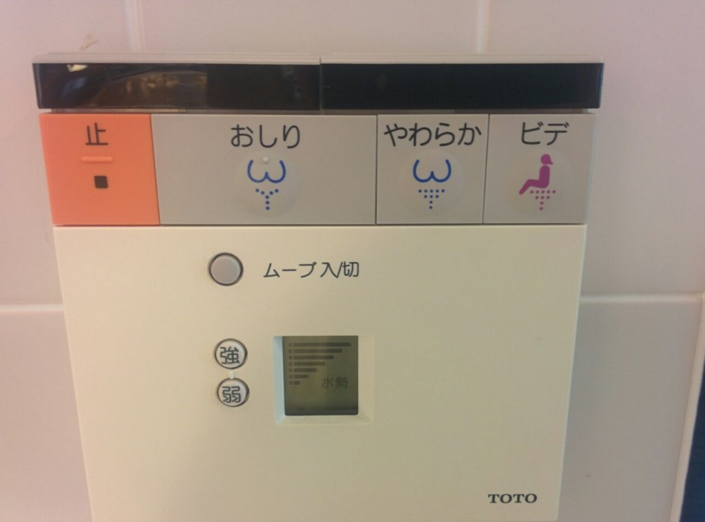 A typical toilet button situation in Japan (Image: Lauren Burvill)