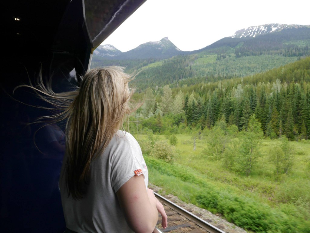 Taking the sceneic route on the Rocky Mountaineer. Image: Alex Gregg