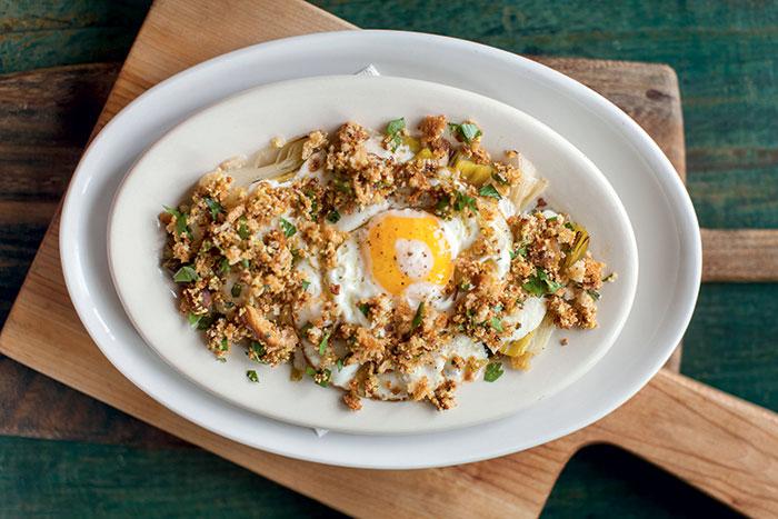Leeks and egg dish at FnB