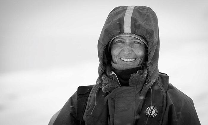 Ginny Scholes on Baffin Island