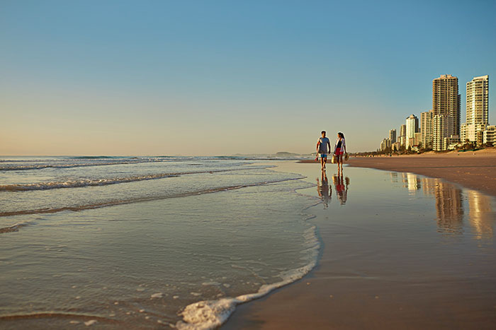 Gold Coast beach Australia
