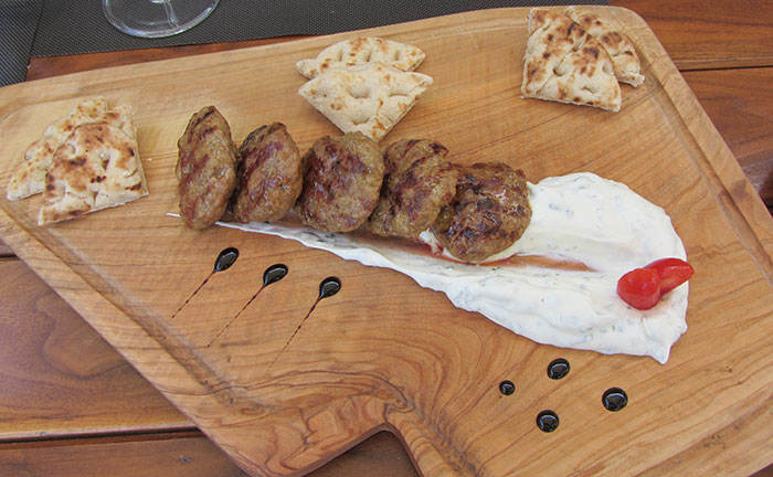 Greek meatballs (image: Angela Griffin)