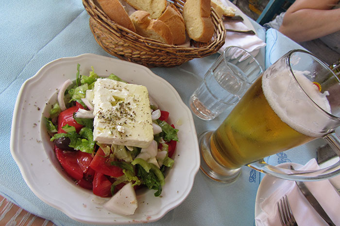 Greek salad (image: Angela Griffin)
