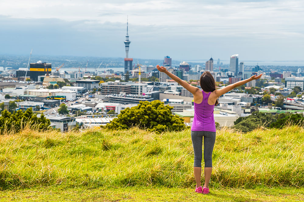 Hiking Mount Eden Auckland