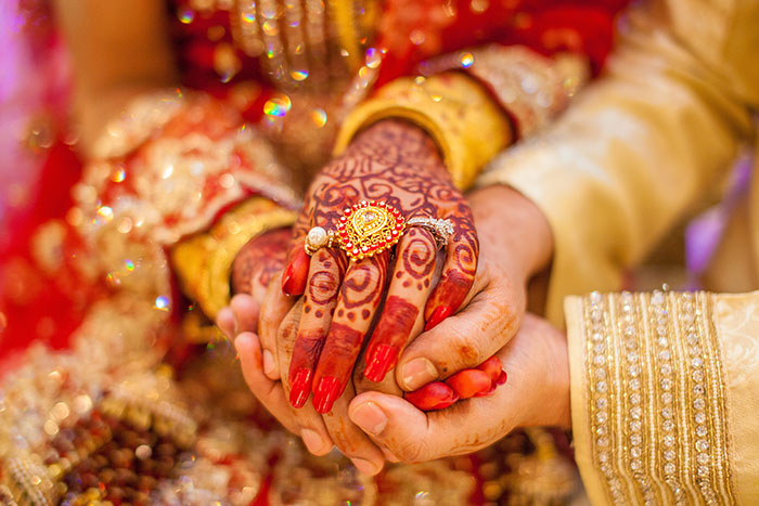 Indian wedding close up