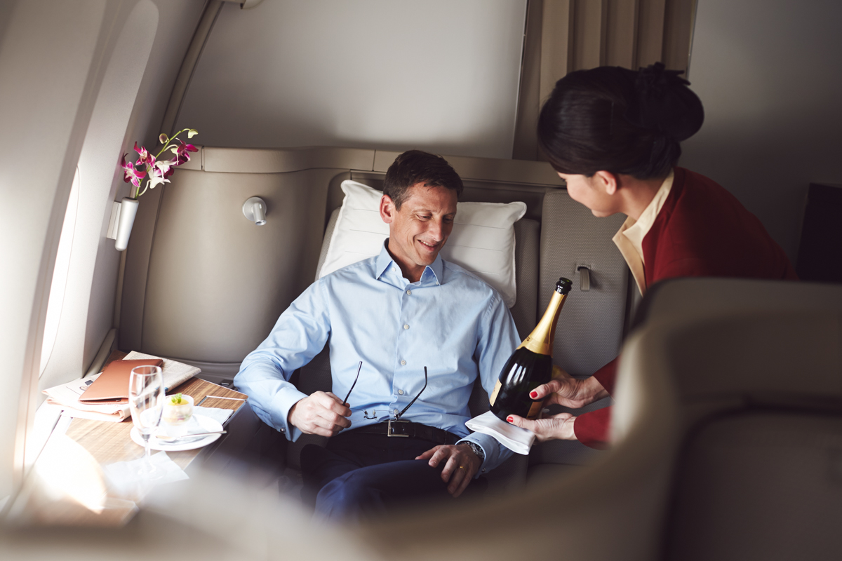 Business Class onboard Cathay Pacific