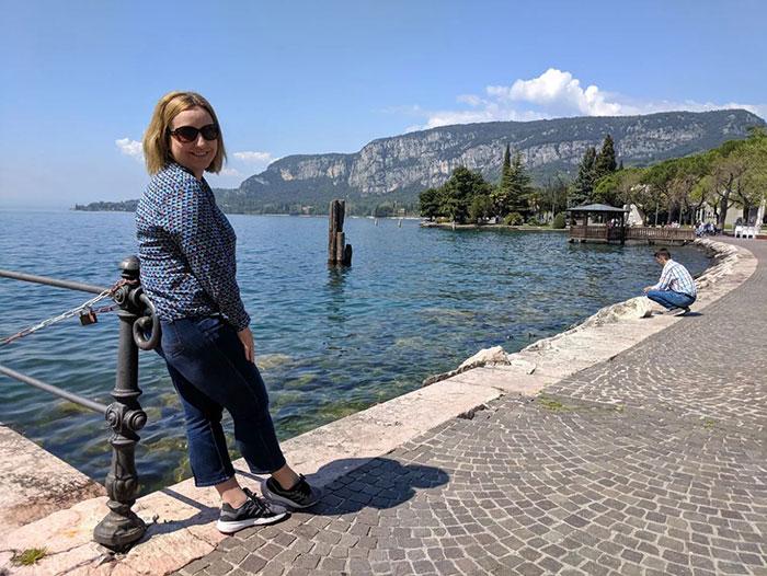 Irina at Lake Garda Irina Ginghina