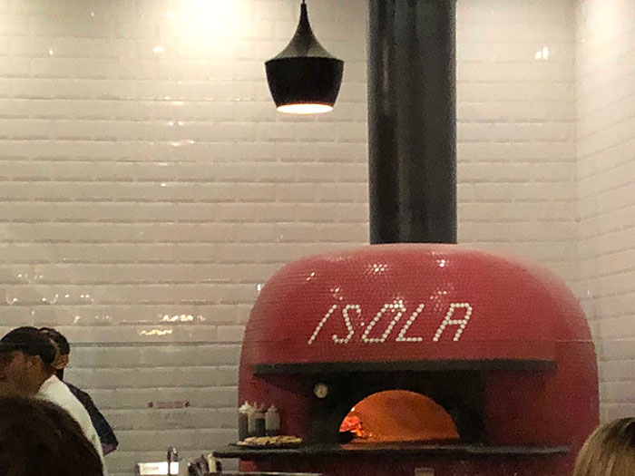 Isola pizza oven San Diego