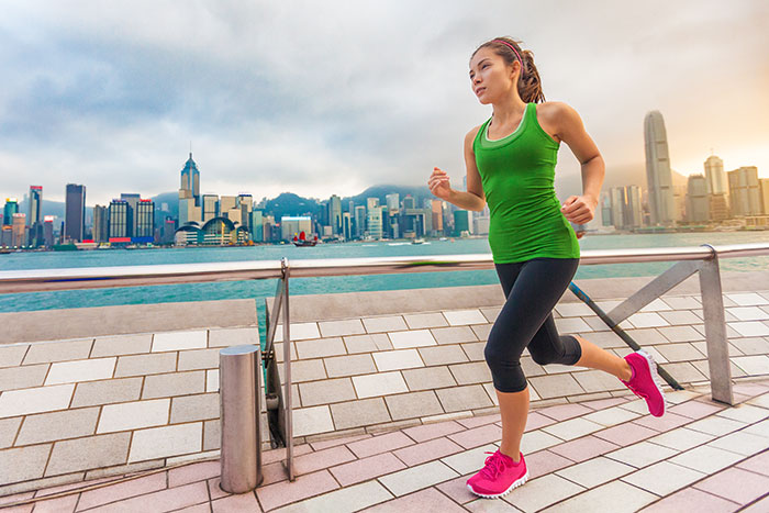 Jogging in Hong Kong