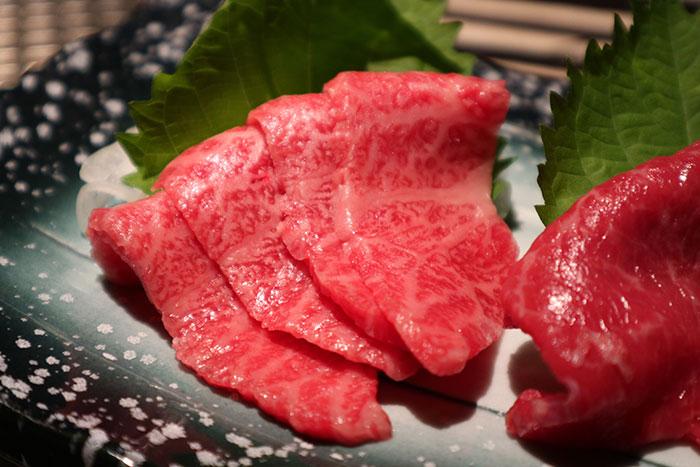 Kobe beef sashimi, Tokyo, Japan