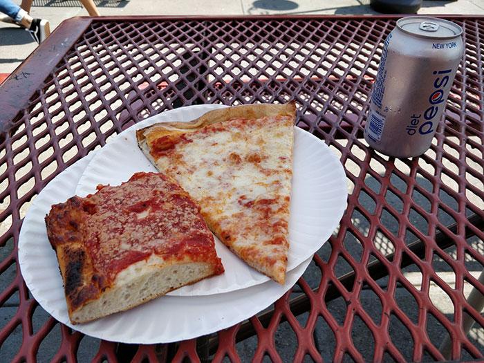 Pizza at Spumoni Gardens Angela Griffin