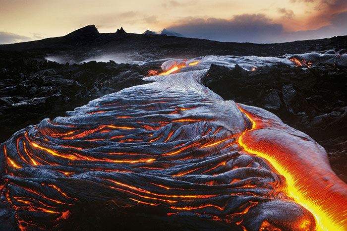 Lava in Hawaii Volcanoes National Park