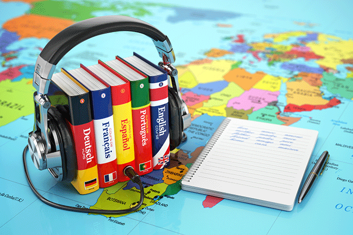Language learning audiobooks