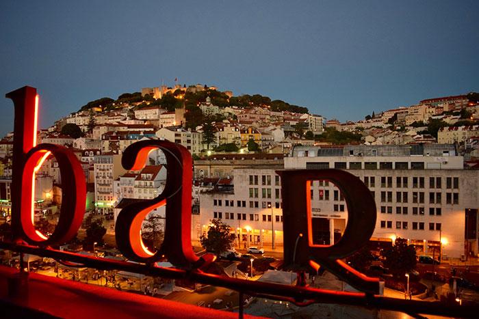 Lisbon rooftop bar