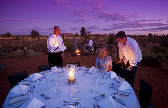 The Sounds of Silence dinner at Uluru