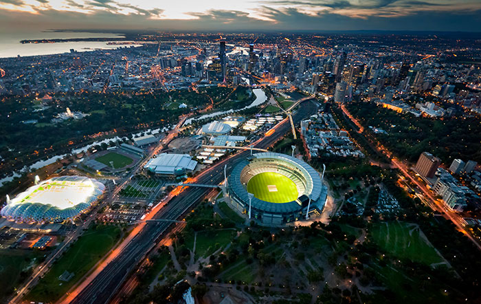 Melbourne Cricket Ground from above