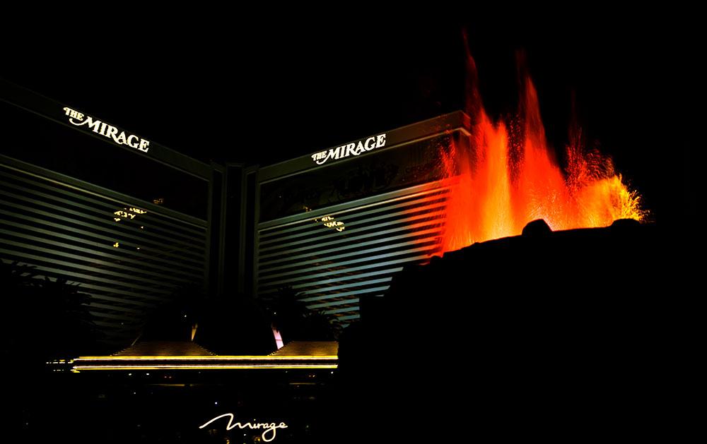 Le Mirage Volcano, Las Vegas