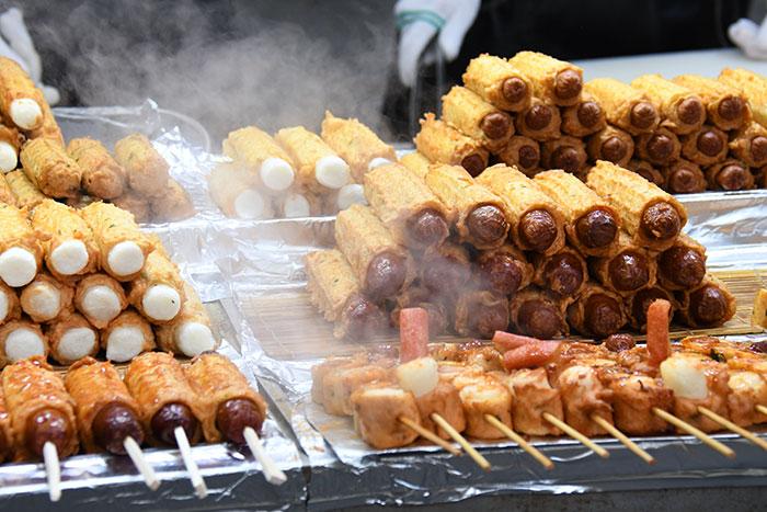 Myeongdong street food Korea