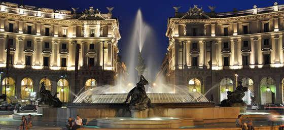 The Piazza della Repubblica in Rome