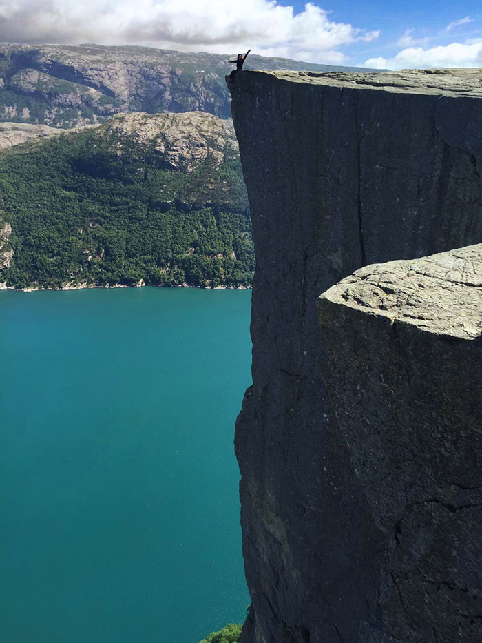 Preikestolen on the edge Michele Frolla
